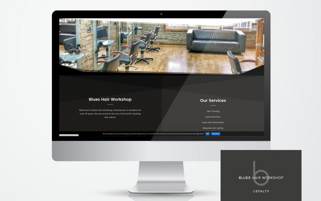 Blues Hair Workshop in Bradford has recently commissions Jinx Design to create a New look website,