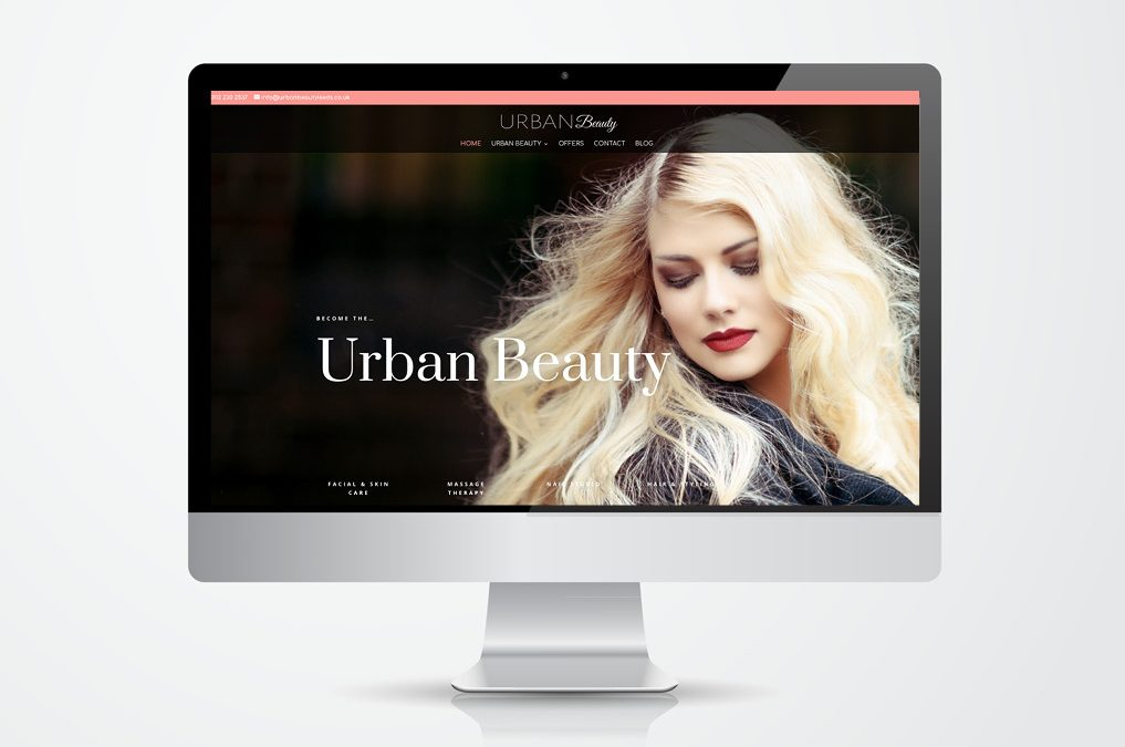 New Beauty Therapy website for Urban Beauty