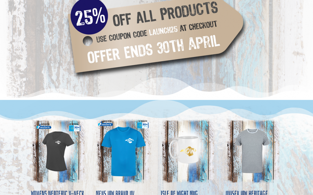 I Love Wight Clothing website launch 25% Off until April 30th 2019