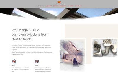 Small business website design for Maple Tree Joinery